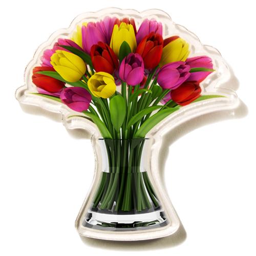 Magnet Šopek tulipanov zate