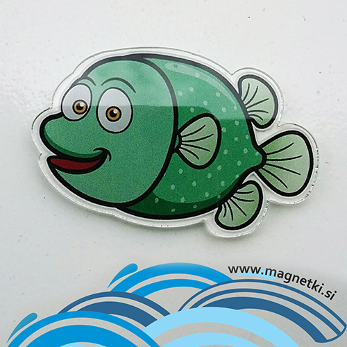 Magnet Ribica zelenka